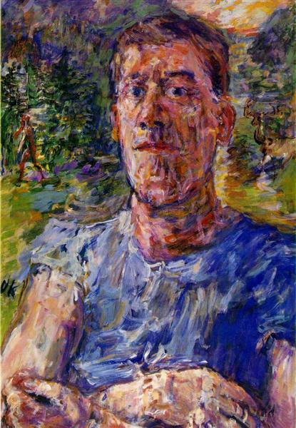 Self-portrait of a 'Degenerate Artist', 1937 - Oskar Kokoschka
