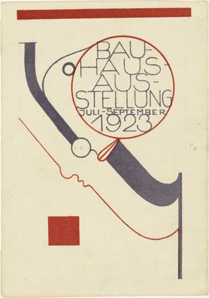 Postcard for the Bauhaus Exhibition (Postkarte für die Bauhaus-Ausstellung), 1923 - Oskar Schlemmer