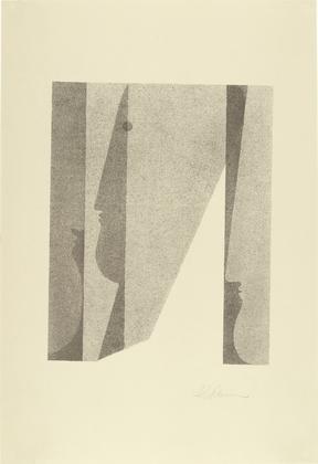 Three Heads, Superimposed (Drei Köpfe, ineinander), 1920 - Oskar Schlemmer