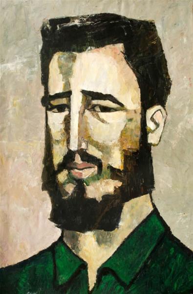 Portrait of Fidel Castro, 1961 - Oswaldo Guayasamin