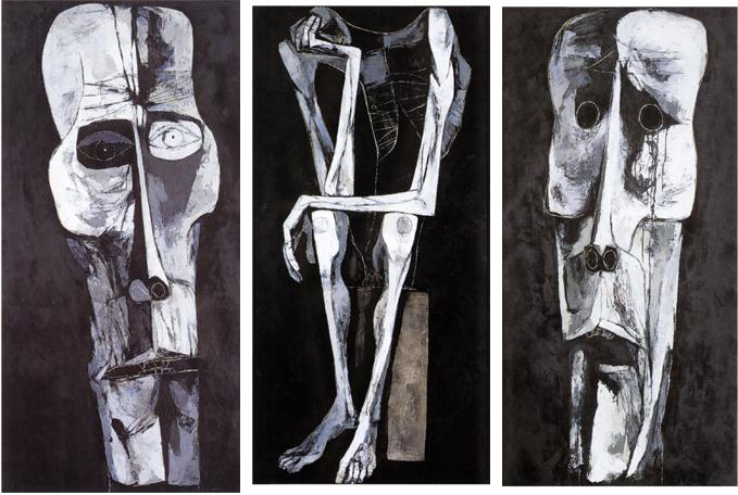 Waiting, 1969 - Oswaldo Guayasamin