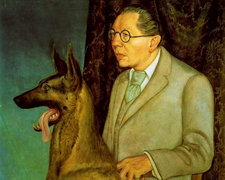 Hugo Erfurth with Dog, 1926 - Otto Dix