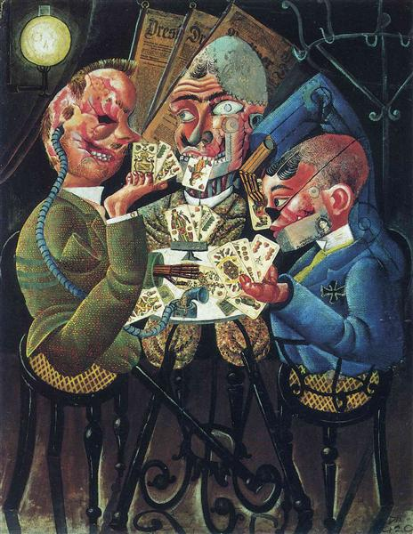 The Skat Players, 1920 - Otto Dix