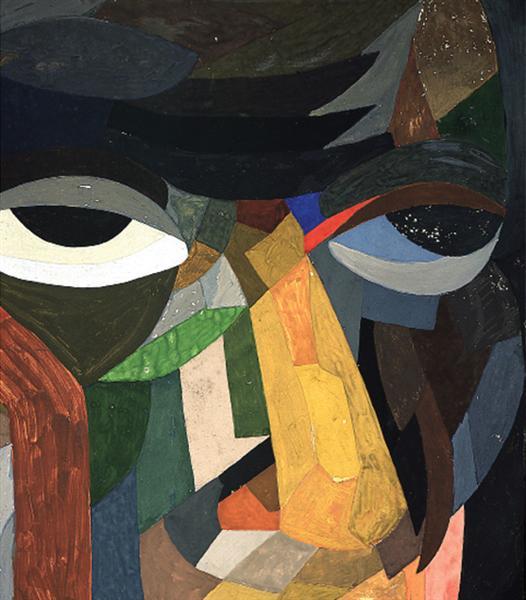 Head (Self Portrait), 1923 - Otto Freundlich
