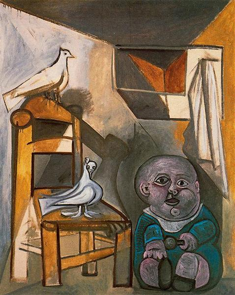 A child with pigeons, 1943 - Pablo Picasso