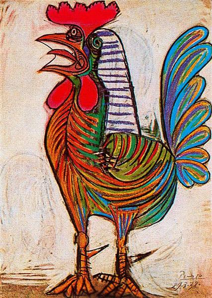 A rooster, 1938 - Pablo Picasso