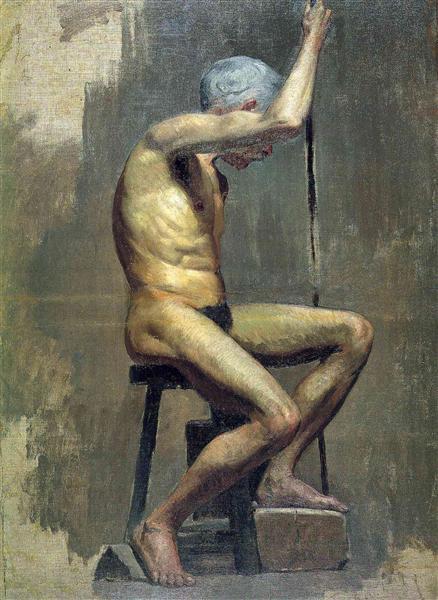 Academical study, c.1895 - Пабло Пикассо