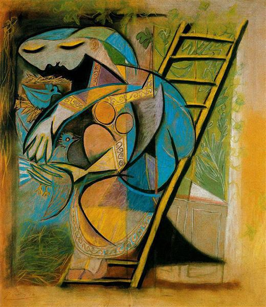 Farmer's wife on a stepladder - Picasso Pablo
