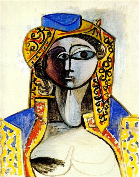 Jacqueline in turkish costume, 1955 - Pablo Picasso