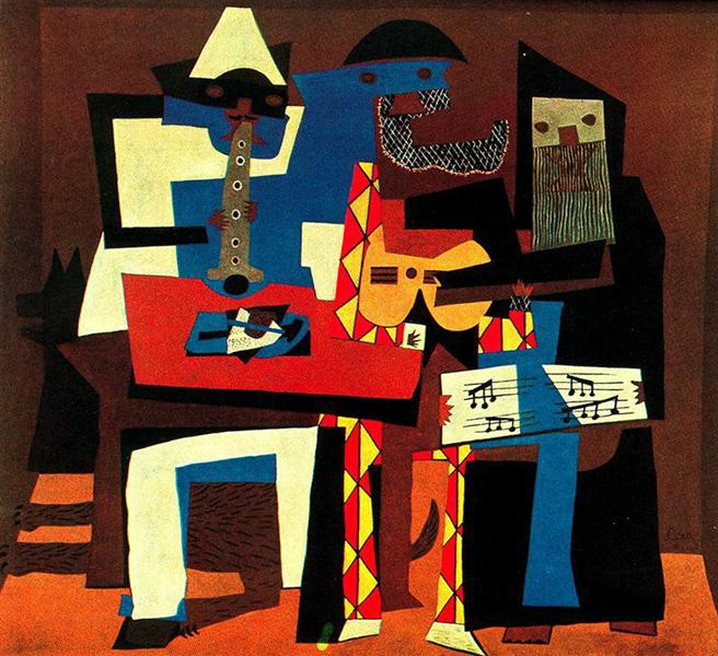 Musicians with masks, 1921 - Pablo Picasso