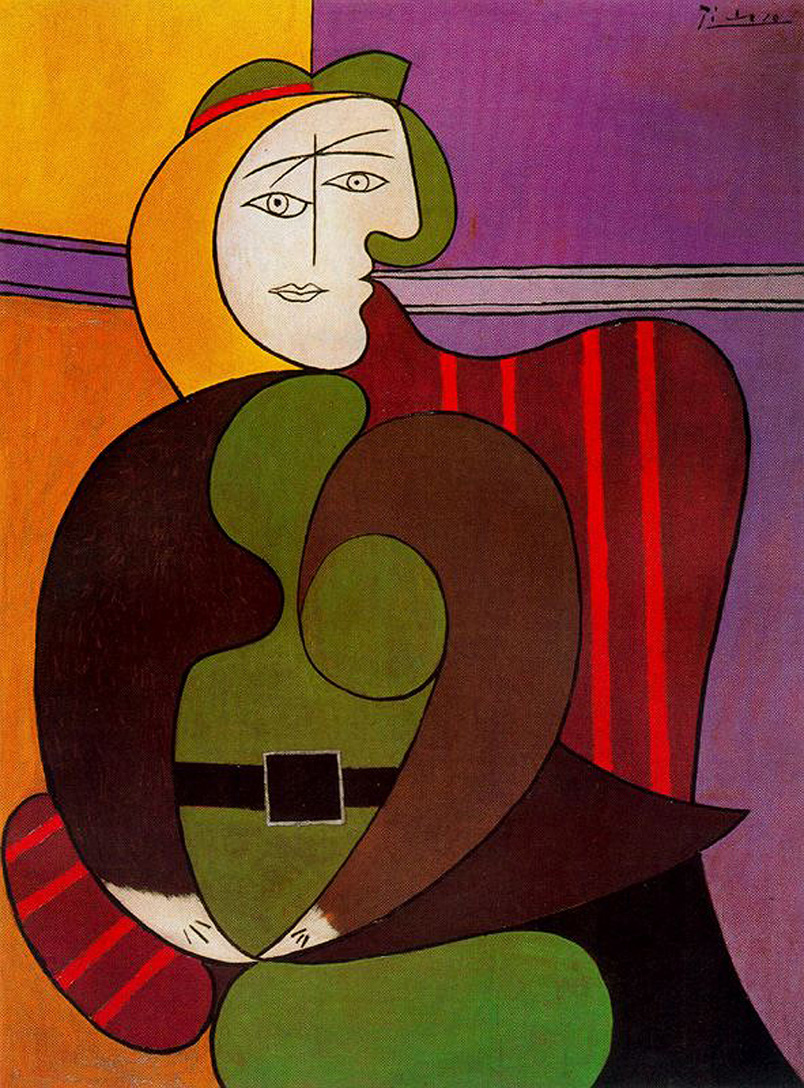 seated woman in a red armchair, 1931 - pablo picasso - wikiart