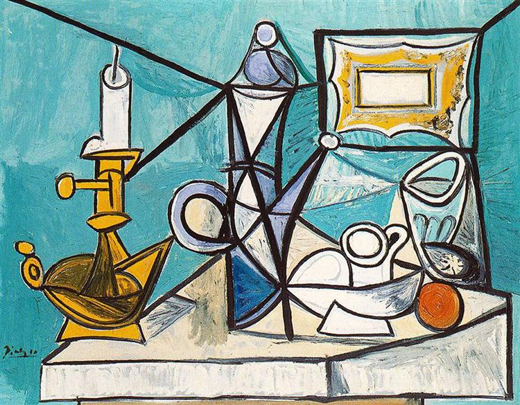 Still life with lamp, 1944 - Pablo Picasso