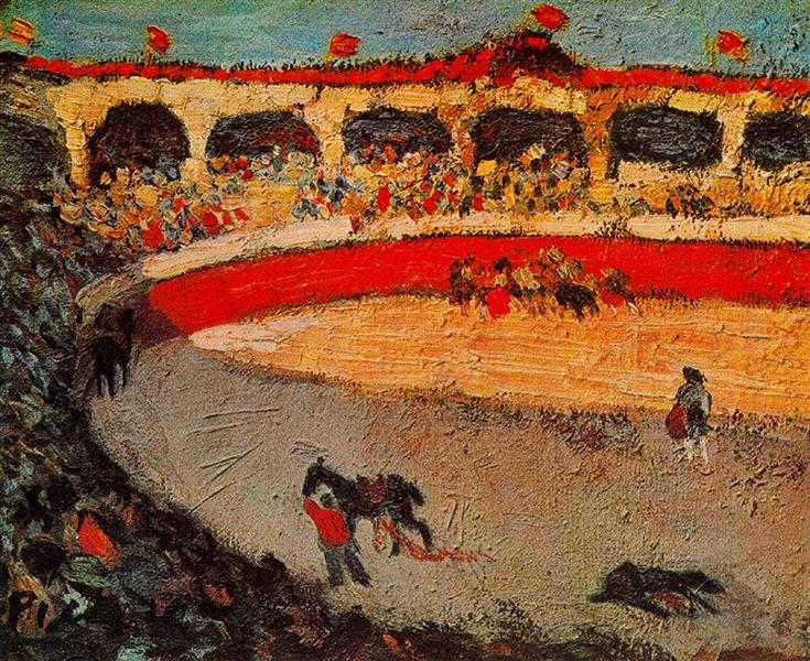 The corrida, 1901 - Pablo Picasso - WikiArt.org
