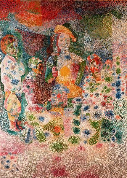 The happy family, c.1917 - Pablo Picasso
