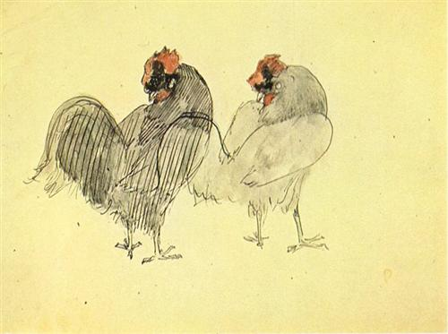 Two roosters - Pablo Picasso