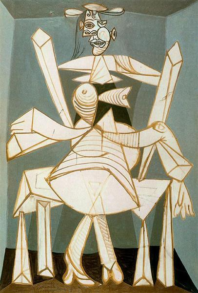 Woman in an armchair, 1941 - Pablo Picasso