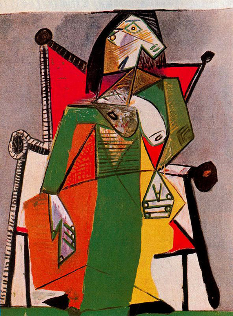 woman sitting in an armchair, 1941 - pablo picasso - wikiart