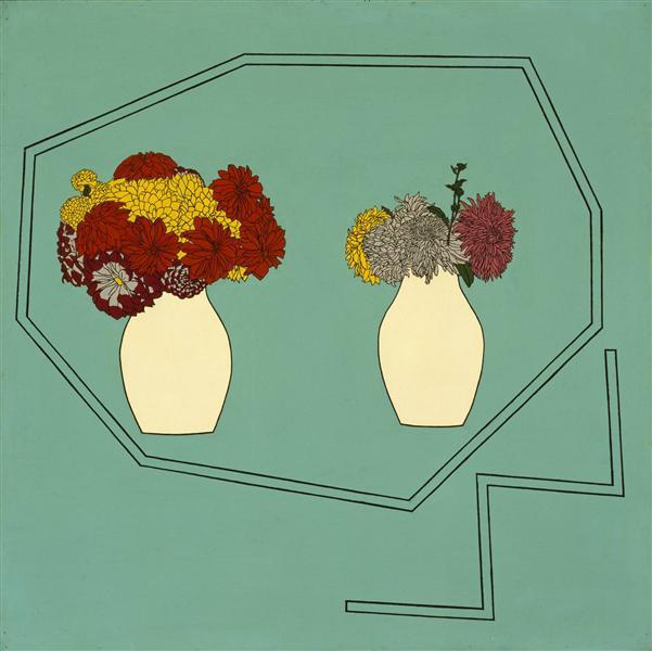 Vases of Flowers, 1962 - Patrick Caulfield