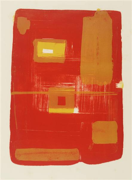 Red and Yellow Image, 1958 - Patrick Heron