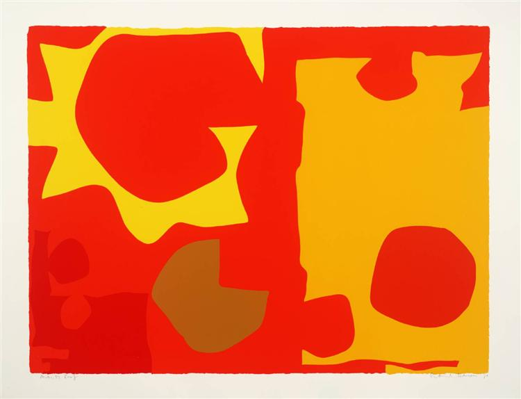 Six in Light Orange with Red in Yellow, 1970 - Patrick Heron