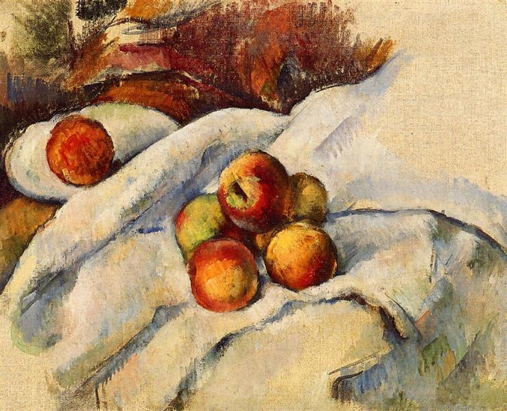 Apples on a Sheet, c.1900 - Paul Cezanne