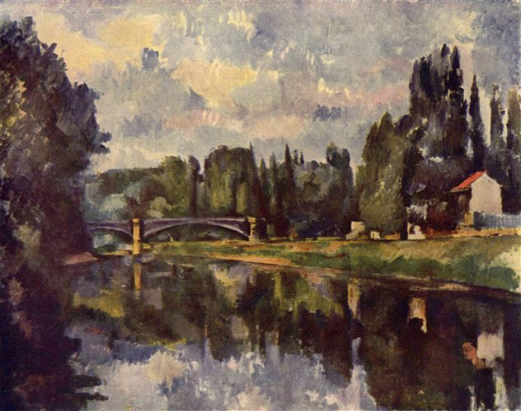 Bridge over the Marne, 1888 - Paul Cezanne