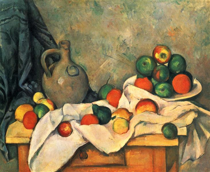 Curtain, Jug and Fruit, 1894 - Paul Cezanne
