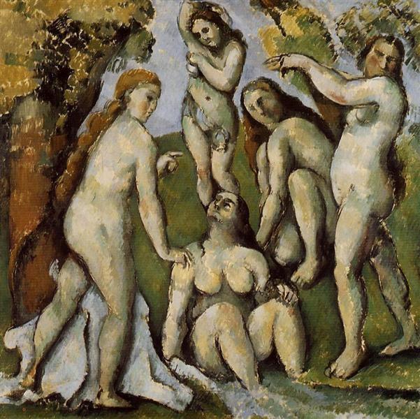 Five Bathers, 1885 - 1887 - Paul Cezanne
