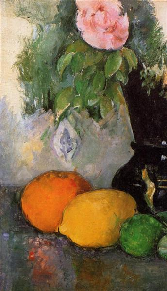 Flowers and Fruit, c.1880 - Paul Cezanne