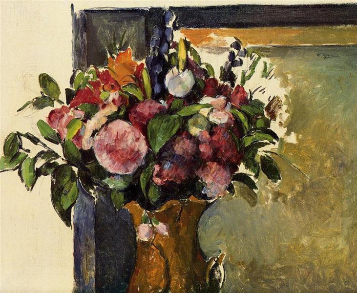Flowers in a Vase, c.1882 - Paul Cezanne