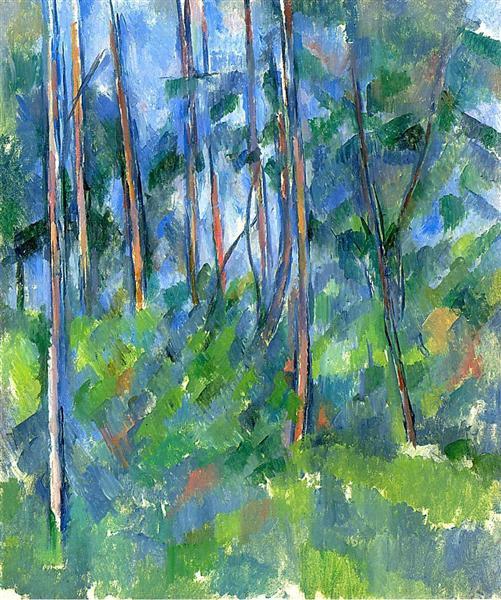 In the Woods, 1898 - Paul Cezanne