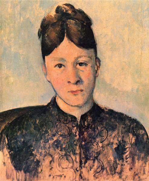 Portrait of Madame Cezanne, c.1885 - Paul Cezanne