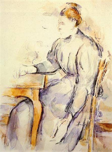 Seated Woman, 1895 - Paul Cézanne