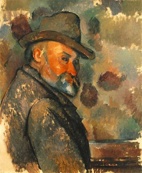 Self-Portrait in a Felt Hat, 1894 - Paul Cezanne