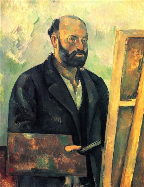 Self-Portrait with Palette, c.1890 - Поль Сезанн