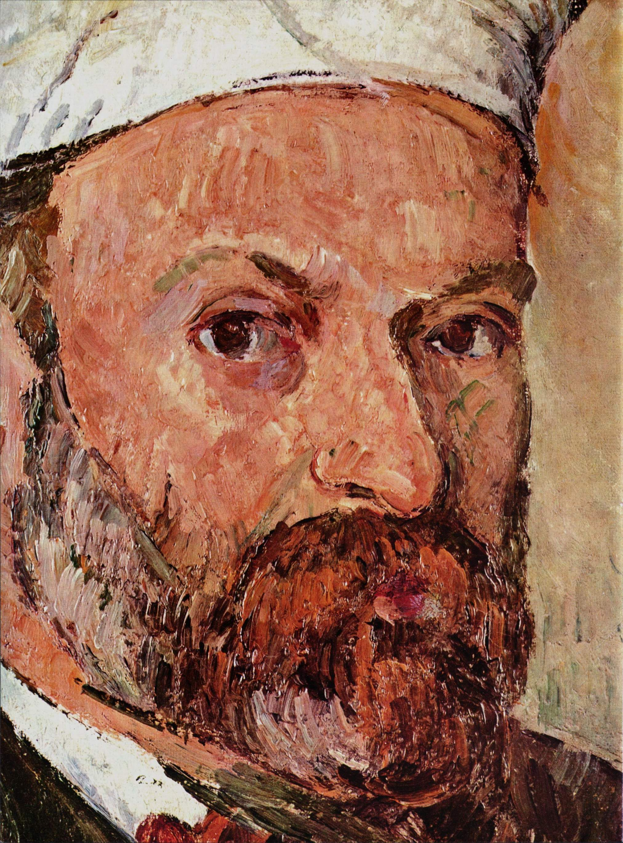 Self portrait with white turbaned detail