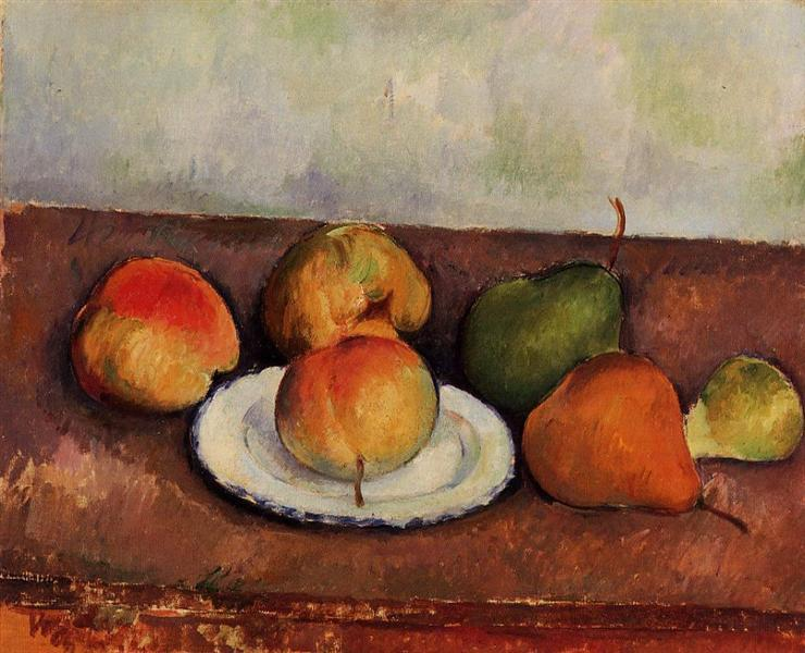 Still Life Plate and Fruit, c.1887 - Paul Cezanne