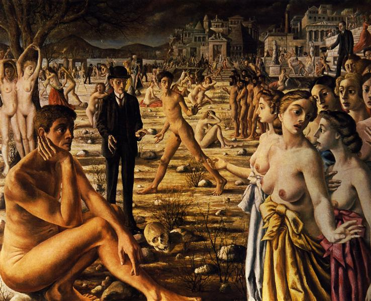 City Worried, 1941 - Paul Delvaux