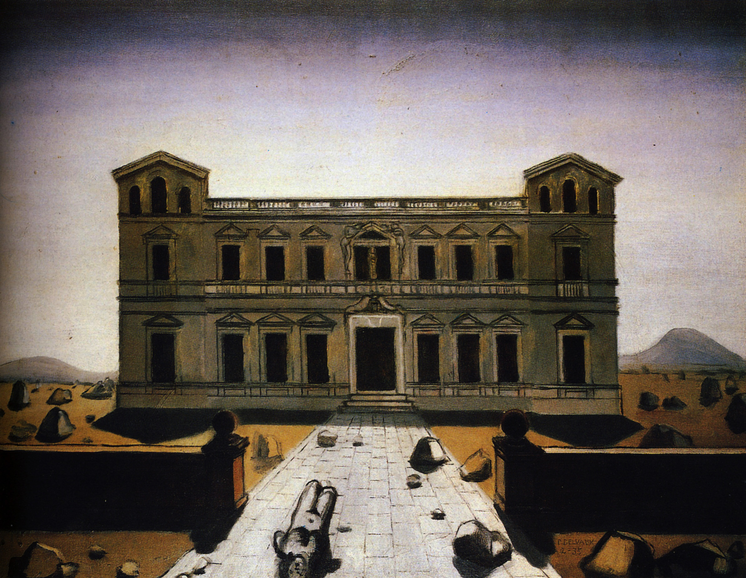 Paul Delvaux Gallery Ruined Palace Paul Delvaux