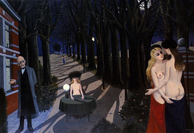 Silent Night, 1962 - Paul Delvaux
