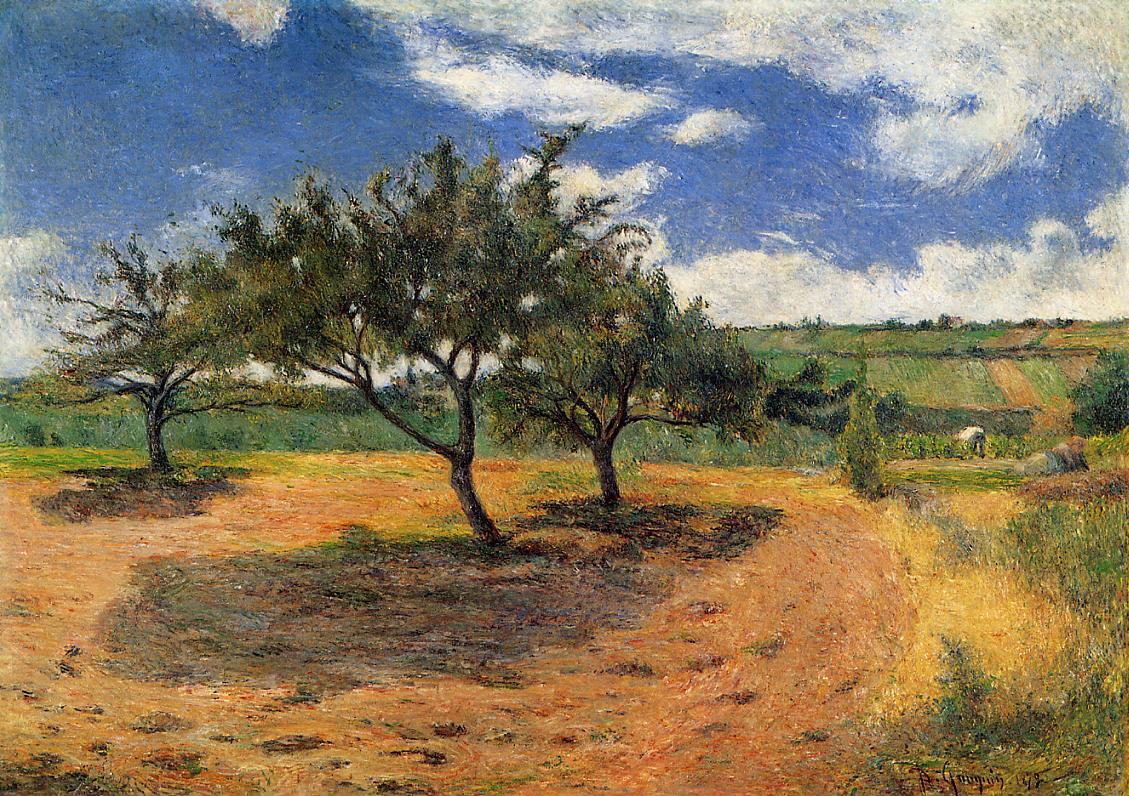 Gauguin Apple-trees-in-blossom-1879