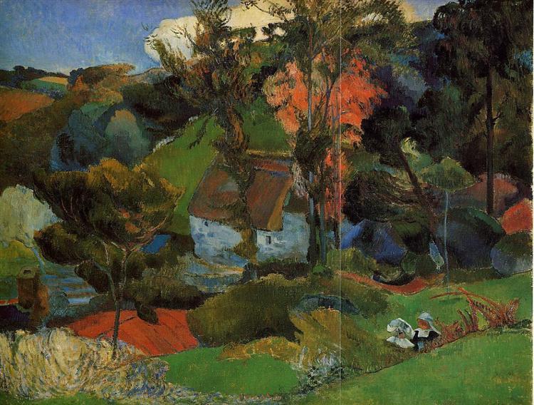 Aven running through Pont-Aven, 1888 - Paul Gauguin