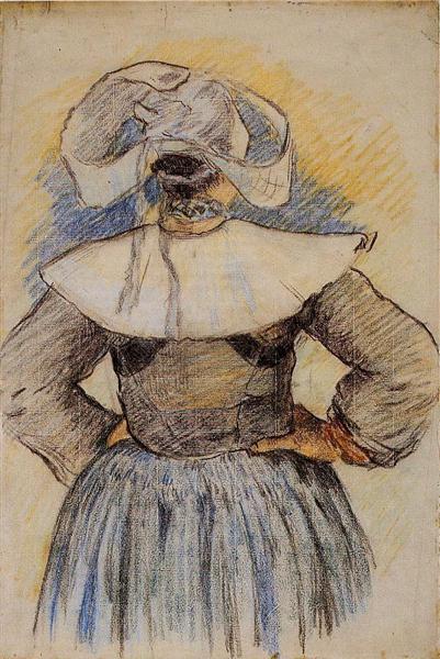 Breton Woman, 1886 - Paul Gauguin