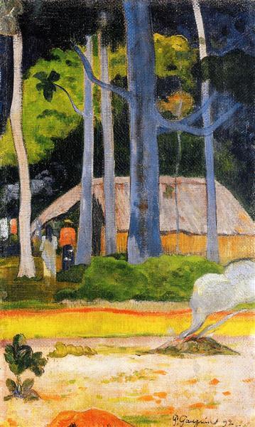 Cabin under the trees, 1892 - Paul Gauguin