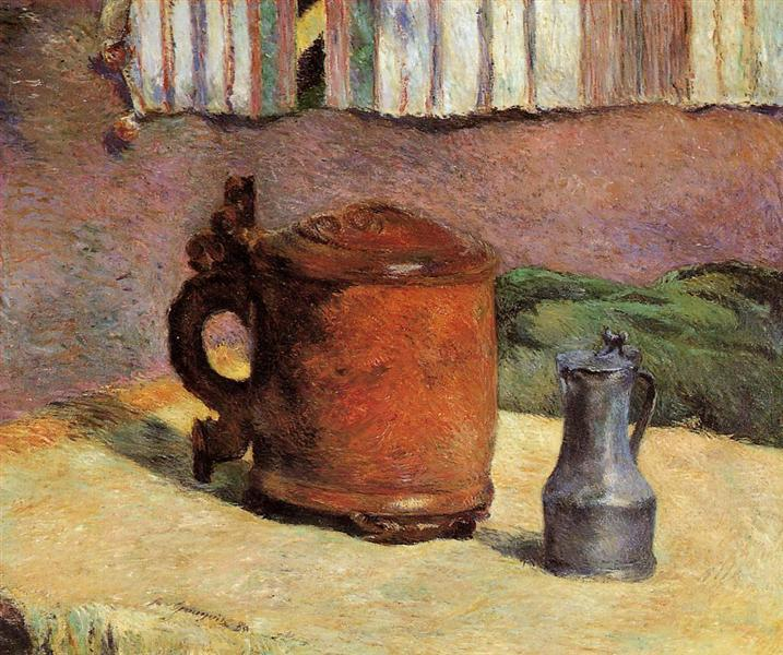 Clay jug and irin mug, 1880 - Paul Gauguin