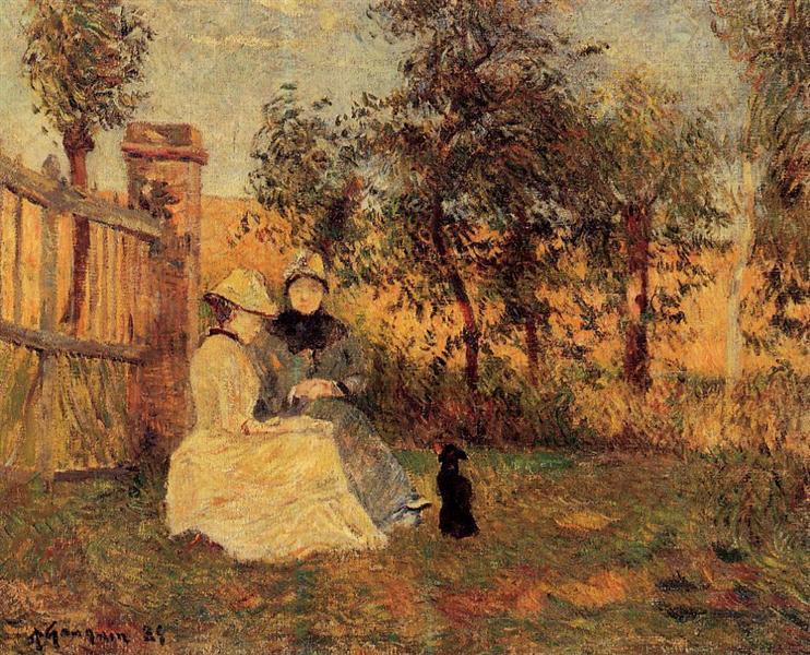 Conversation, 1885 - Paul Gauguin