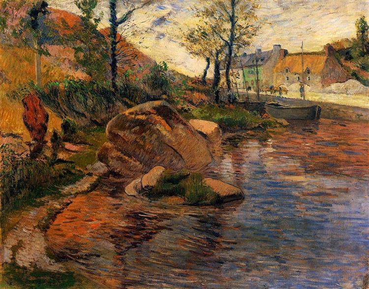 Cove opposite Pont-Aven Harbor, 1888 - Paul Gauguin