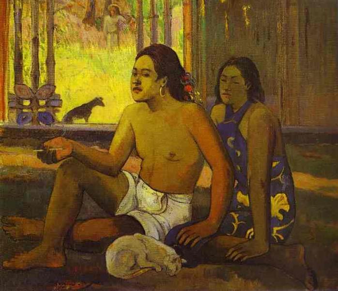 Eiaha Ohipa or Tahitians in a Room, 1896 - Paul Gauguin