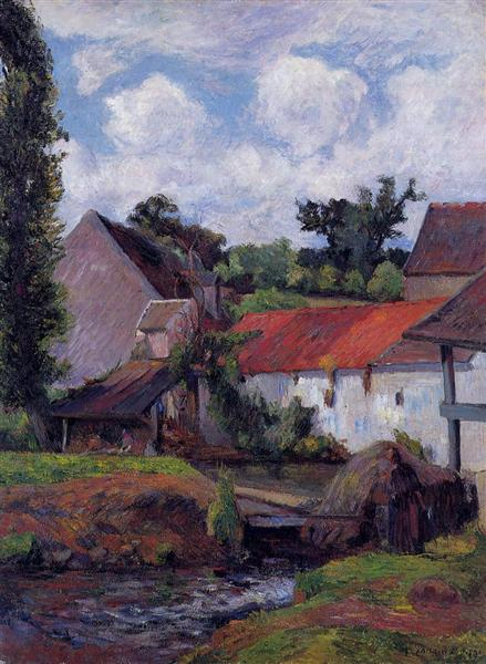 Farm in Osny, 1883 - Paul Gauguin