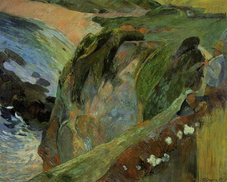 Flutist on the cliffs, 1889 - Paul Gauguin